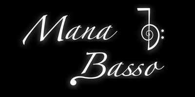 Mana Basso logo blakc and white