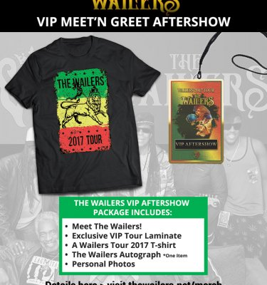 The Wailers meet and greet VIP after-show package
